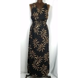 ⚘ A New Day black tropical sleeveless maxi dress M